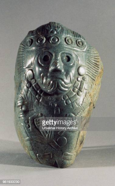 Tlaloc c 12001519 Central Mexico Aztec 13th16th century greenstone carved in low relief to portray the Aztec rain god Tlaloc a patron of agriculture...