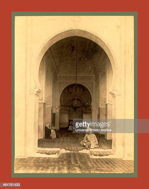 Tlemcen Interior Of The Mosque Of Sidi Bou Medina Nave Algiers Neurdein Brothers 1860 1890 The Neurdein Photographs Of Algeria Including Byzantine...