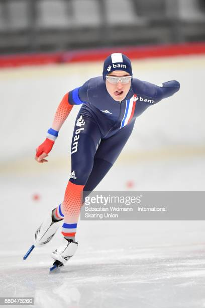 TMathieu Belloir of France performs during the Men 1500 Meter at the ISU ISU Junior World Cup Speed Skating at Max Aicher Arena on November 26 2017...