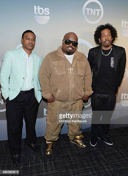 TMo Ceelo and Big Gipp attend the TBS / TNT Upfront 2014 at The Theater at Madison Square Garden on May 14 2014 in New York City 24674_002_0815JPG