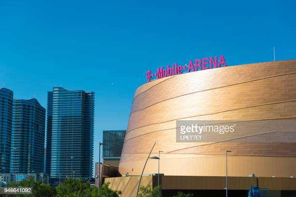 t-mobile arena - las vegas - t mobile arena las vegas stock pictures, royalty-free photos & images