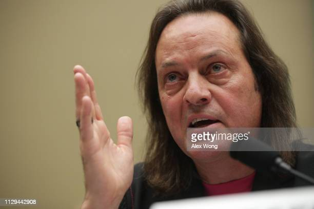 Mobile CEO John Legere testifies during a hearing before the Communications and Technology Subcommittee of the House Energy and Commerce Committee...