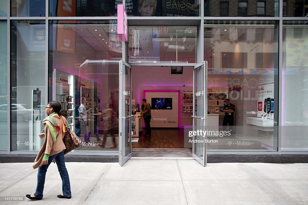 Mobile store is seen at 7th Avenue and 49th Street on March 23, 2012 in New York City. T-Mobile USA announced they would be eliminating 1,900 call-center jobs in an effort to cut costs.