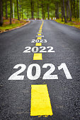 2021 to 2026 happy new year concept