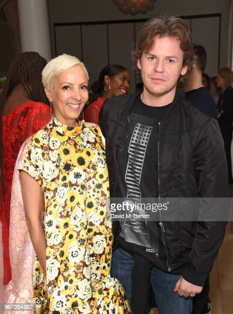 to AnneMarie Curtis and Christopher Kane attend THE ELLE LIST 2018 in association with THEOUTNETCOM at Spring at Somerset House on June 4 2018 in...