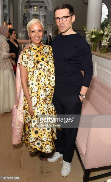 to AnneMarie Curtis and Erdem Moralioglu attend THE ELLE LIST 2018 in association with THEOUTNETCOM at Spring at Somerset House on June 4 2018 in...