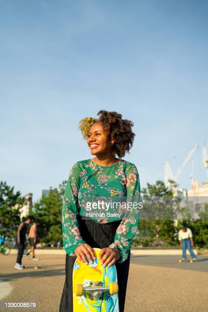 to balance is trust - a skateboarder in stratford, east london, uk - showus stock pictures, royalty-free photos & images