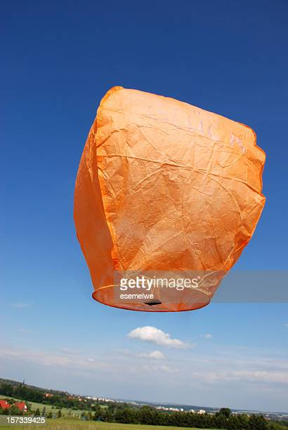 to balloon - chinese lantern stock pictures, royalty-free photos & images