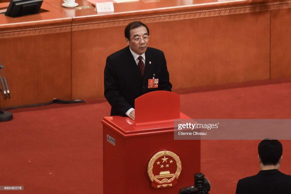 China's National People's Congress (NPC) - Sixth Plenary Meeting : News Photo