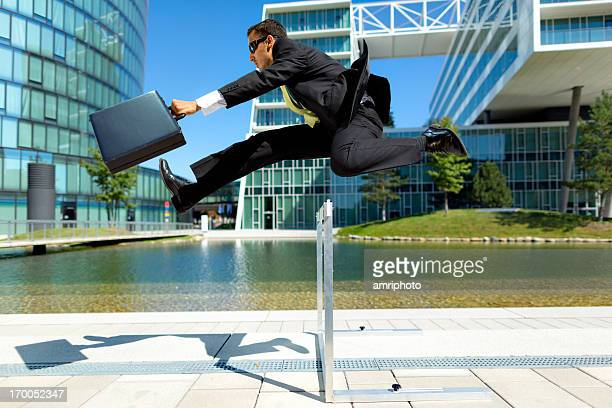 to be one step ahead - hurdling stock photos and pictures