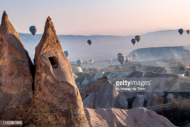 to cappadocia see the balloon - cappadocia stock pictures, royalty-free photos & images
