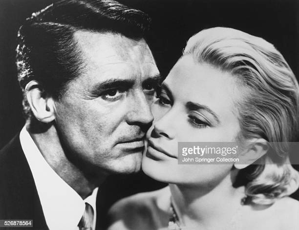To Catch a Thief movie still of Cary Grant who plays the role of John Robie and Grace Kelly as Frances Stevens