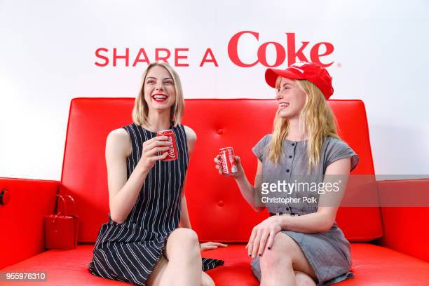 To celebrate National Share a Coke Day 'May 8' and the return of this summer's Share a Coke campaign Allie Marie Evans and friend Annie share icecold...