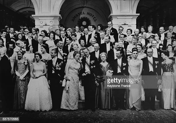 To celebrate the silver wedding of Queen Juliana and Prince Bernhard six monarchs and 150 princes and Princesses join at the Palace on May 3 1962 in...