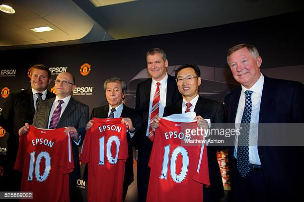To celebrate the sponsorship agreement with Manchester United and Japanese company EPSON, Mr Richard Arnold the Commercial Director of Manchester...