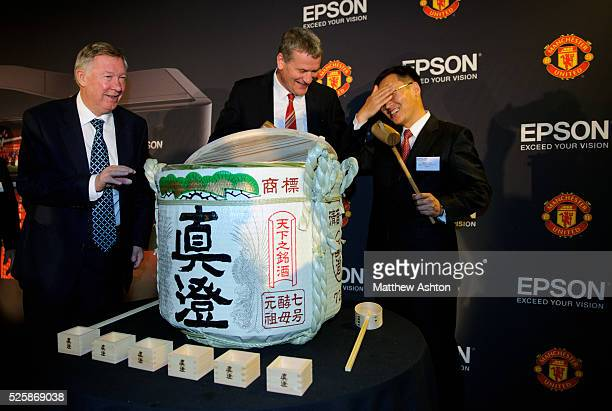 To celebrate the sponsorship agreement with Manchester United and Japanese company EPSON, Manchester United Chief Executive David Gill and Mr Minoru...
