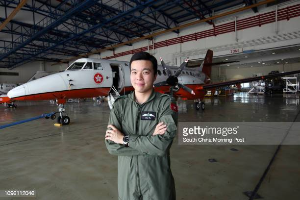 To Cheuk-pong, Pilot 1 of Government Flying Service poses for picture with Jetstream 41 at Chek Lap Kok. 09MAR16 SCMP/Edward Wong
