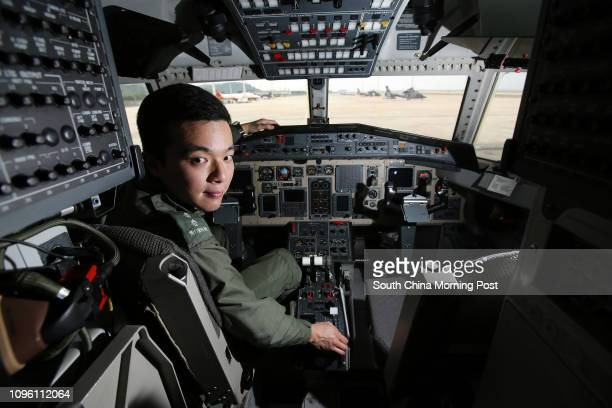 To Cheukpong Pilot 1 of Government Flying Service poses for picture with Jetstream 41 at Chek Lap Kok 09MAR16 SCMP/Edward Wong