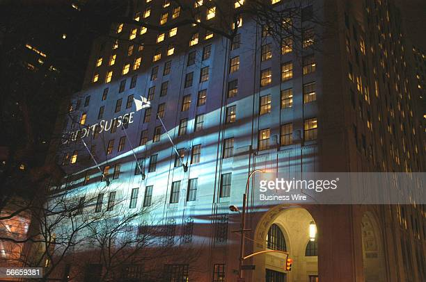 To commemorate the company's new brand Credit Suisse buildings in London Zurich Hong Kong Singapore and New York are being illuminated with the new...