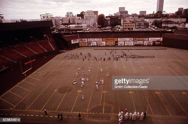 To conserve electricity all Portland high schools had their football games rescheduled for daylight hours at the Multnomah stadium Normally they were...