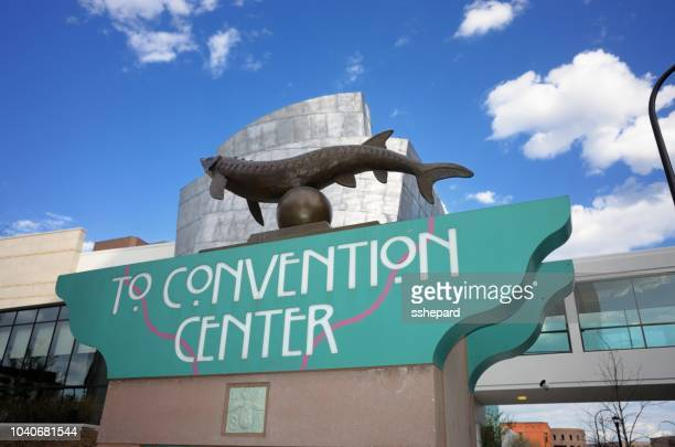 To Convention Center sign in downtown Minneapolis