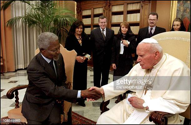 To discuss the Iraq crisis and specially the outcome of talks in Baghdad between Papal Envoy Cardinal Roger Etchegaray and Saddam Hussein United...