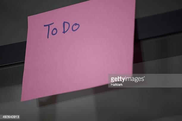 To Do list, close-up