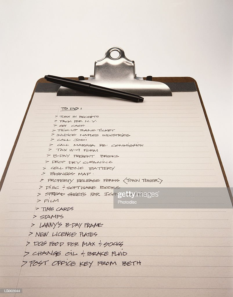 To Do List on a Clipboard : Stock Photo