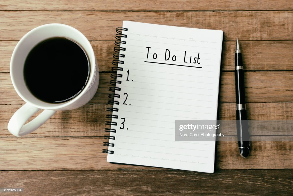 To Do List On Note pad : Foto de stock