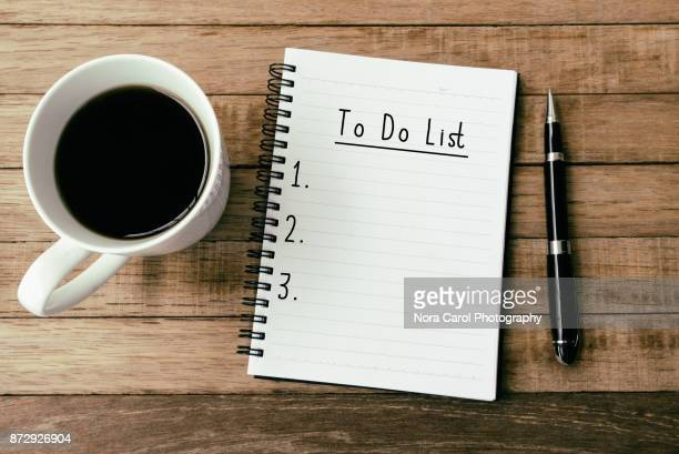 To Do List On Note pad