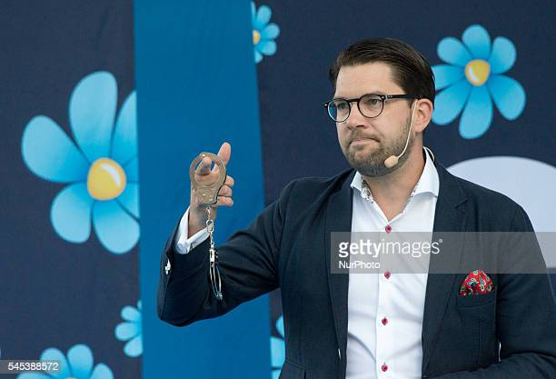 To emphasize his law and order theme Jimmie Åkesson leader of the ultra nationalist Sweden Democrats currently the third largest party in Swedish...