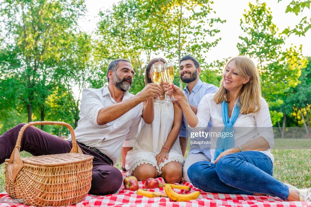 To family! : Stock Photo