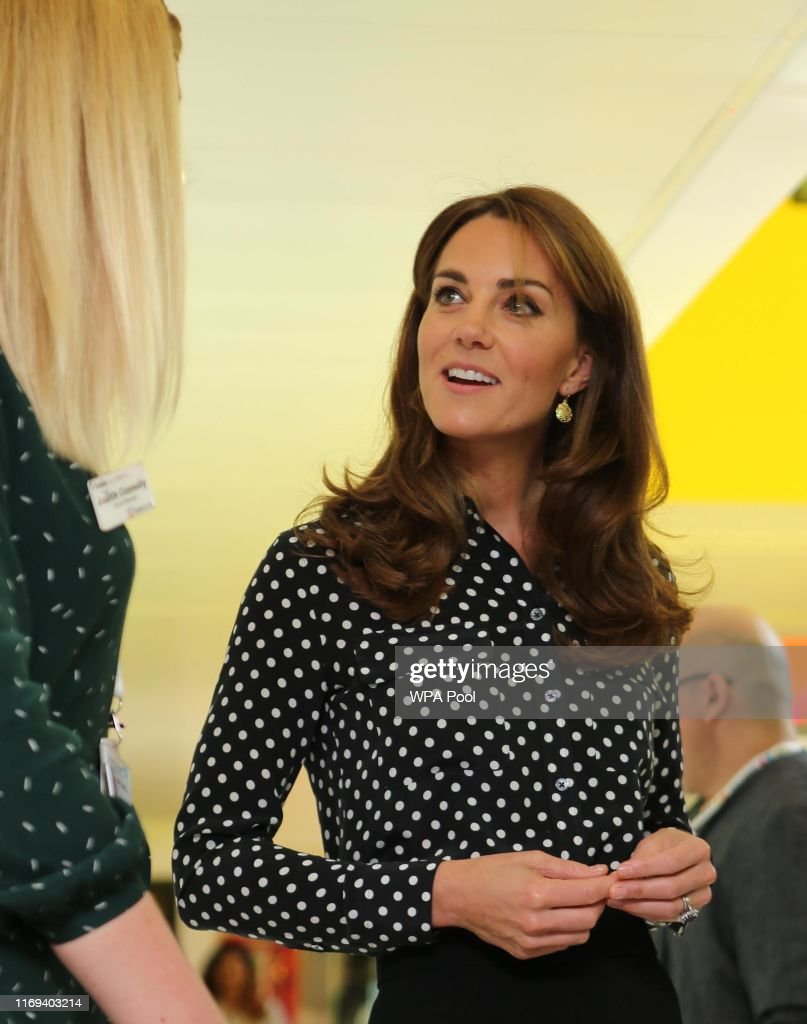 The Duchess Of Cambridge Visits The Family Nurse Partnership : News Photo