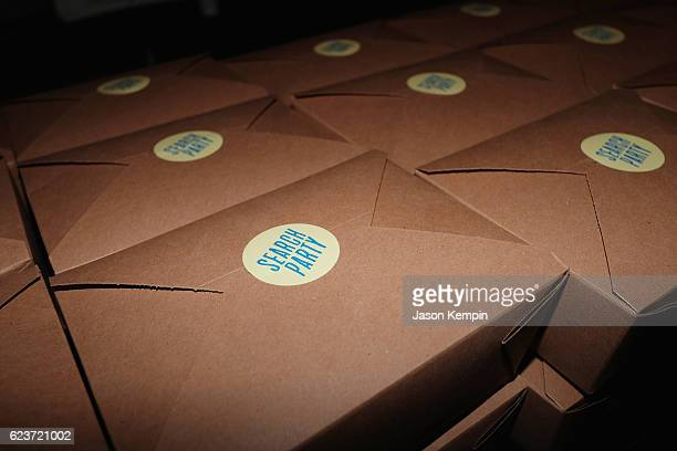 To go boxes on display during the Search Party NYC Premiere at Metrograph on November 16 2016 in New York City
