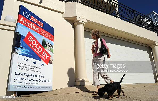 To go with a feature story Australiaproperty by Madeleine Coorey A sign advertises a multimillion dollar house which sold prior to auction in Sydney...