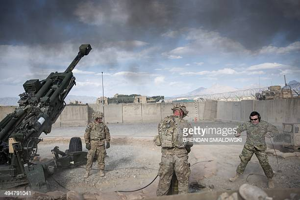 To go with AfghanistanunrestUSmilitaryveteranshealthFOCUS by Daniel De Luce This photo taken on May 28 2014 shows US Army Sergeant Joshua Ben of...