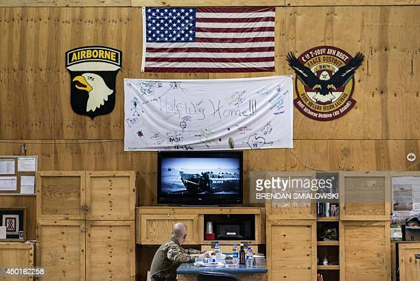 To go with 'AfghanistanUnrestUSNatoMilitaryMedicine' by Dan De Luce In this photograph taken on May 31 a member of the US 159 Combat Aviation Brigade...