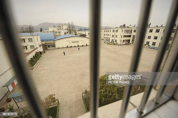 CHINAHEALTHDRUGS A general view shows the exercise yard at the Kunming Municipal Compulsory Rehabilitation Centre in China's southwest Yunnan...