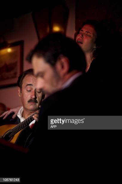 To go with AFP story by Levi Fernandes: Lisbonne veut inscrire le fado au patrimoine culturel immatériel de l'Unesco Fado singer Dana performs in the...