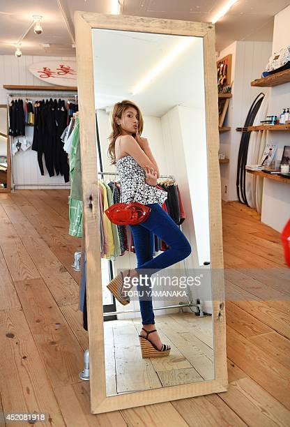 To go with AFP story 'EntertainmentJapanlifestyleculturesociology' FEATURE by Alastair Himmer In a picture taken on May 20 Japanese fashion model and...