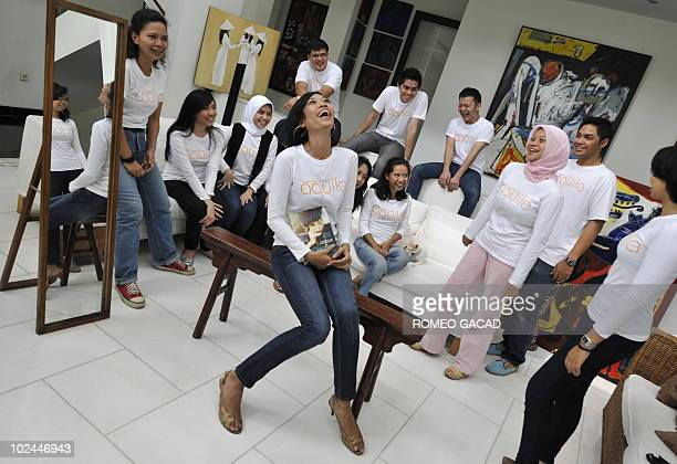 To go with AFP story LifestyleAsiareligionmediasocietySingapore by Philip Lim In this photograph taken on June 5 Singaporean Muslim publisher Liana...