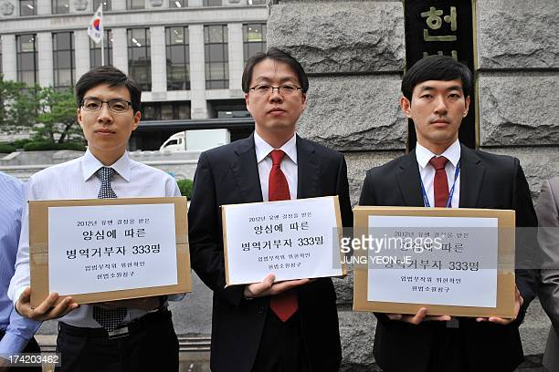 To go with AFP story NKoreaSKoreaanniversarywarhistorydraft FEATURE by Giles Hewitt This picture taken on June 18 2013 shows South Korean lawyer Oh...