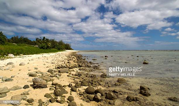 To go with AFP story 'PacificCooksconservationenvironmentfishFEATURE' by Neil Sands This picture taken on August 28 2012 shows a general view of a...