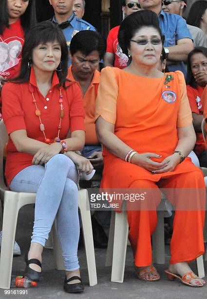 To go with AFP story PhilippinespoliticsdynastiesFOCUS by Cecil Morella In this photo taken on March 26 2010 shows Philippine former first lady...
