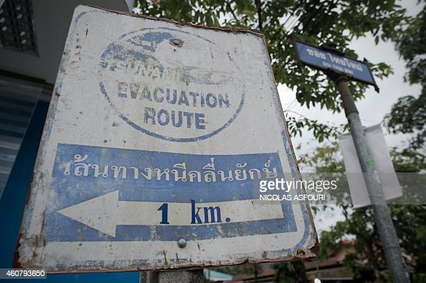 To go with AFP story THAILANDASIATSUNAMIANNIVERSARY by Preeti Jha and Thanaporn Promyamyai This picture taken on December 3 2014 shows a faded...