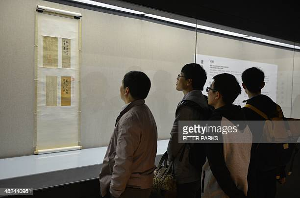 To go with 'China culture museum historyFOCUS' by Bill Savadove Photo taken on March 29 2014 shows visitors to the newlyopened Long Museum West Bund...