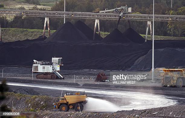 To go with ClimatewarmingUNCOP21AustraliacoalFEATURE by Madeleine Coorey A photo taken on November 18 shows a coal mine in Bulga the Hunter Valley...