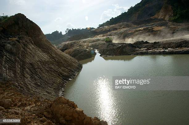 To go with Indonesia-energy-mining-coal-environment-agriculture,FEATURE by Angela Dewan This photo taken on November 9 shows a general view of a coal...
