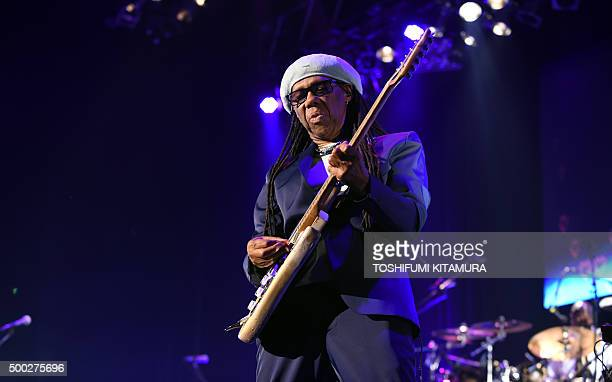 To go with Music Chic Rodgers interview by ALASTAIR This picture taken on December 3 2015 shows US music producer and guitarist Nile Rodgers...