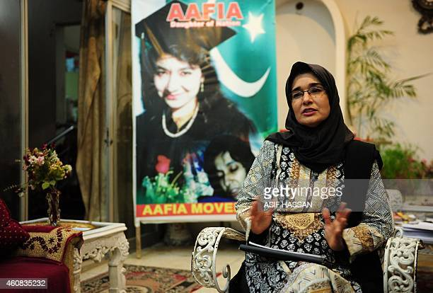 To go with PakistanAfghanistanunrestSiddiquiFOCUS by Guillaume LAVALLÉE In this photograph taken on November 12 Fowzia Siddiqui sister of Aafia...